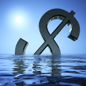 Dollar Sinking In The Sea
