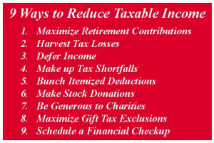 9 Ways to Reduce Taxable Income